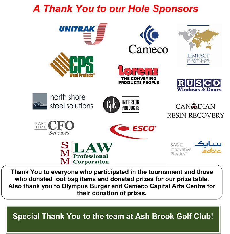 Thank You to Our Hole Sponsors