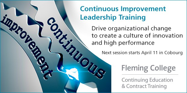 Link to Continuous Improvement Leadership Training program on Fleming College website.